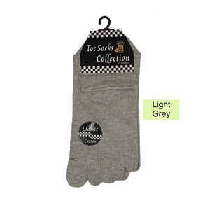 Ankle Five Toe Socks - Kawata House of Socks in Light Grey