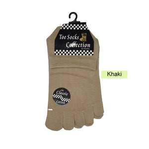 Ankle Five Toe Socks - Kawata House of Socks in Khaki Colour