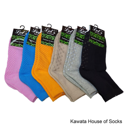 Anti-Slip Padded Quarter Socks for Ladies - Kawata House of Socks