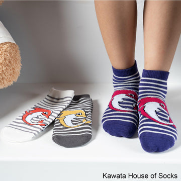 Anti-Slip Quarter Dolphin Socks - Kawata House of Socks
