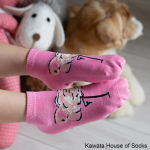 Anti-Slip Quarter Flamingo Socks - Kawata House of Socks