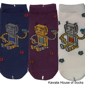 Anti-Slip Robot Series 3 Socks - Kawata House of Socks