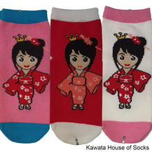 Load image into Gallery viewer, Anti-Slip Princess Series 3 Socks - Kawata House of Socks