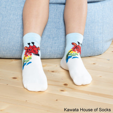 Anti-Slip Quarter Giraffe Socks - Kawata House of Socks