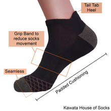 Load image into Gallery viewer, Casual Padded Ankle Heel Tab Socks - Kawata House of Socks