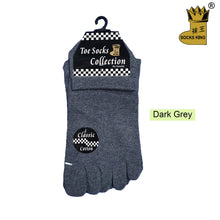 Load image into Gallery viewer, Ankle Five Toe Socks - Kawata House of Socks in Dark Grey