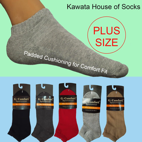 Plus Size Padded Sport Socks - Kawata House of Socks