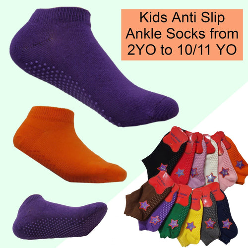 Kids Anti Slip Ankle Socks - Kawata House of Socks