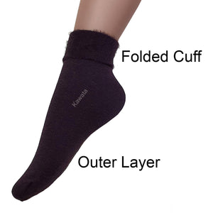 Quarter Fuzzy Socks / Winter Socks - Kawata House of Socks