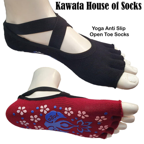 Open Toe Anti Slip Yoga Socks - Kawata House of Socks