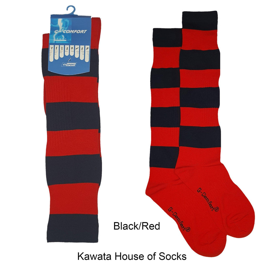 Stripe Soccer Socks/ Sport Long Socks /Ruby Socks / Softball Socks / Sport Socks - Kawata House of Socks