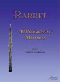 Barret: (Anderson): 40 Progressive Melodies for Oboe