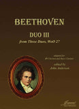 Beethoven (Anderson) Duo III, WoO 27, adapted for clarinet and bass clarinet