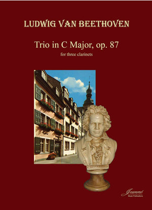Beethoven (Anderson): Trio in C Major, op. 87 adapted for 3 clarinets [PARTS ONLY]