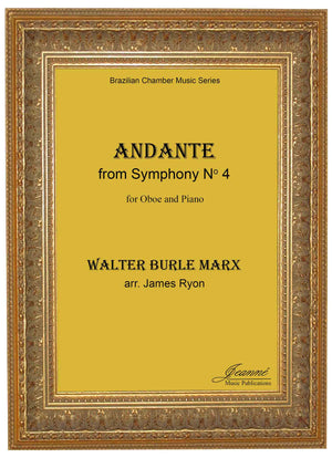 Burle Marx (Ryon): Andante from Sym. No. 4 for oboe and piano