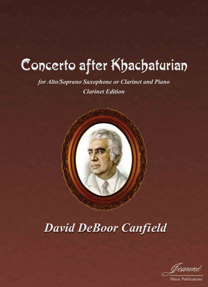 Canfield: Concerto after Khatchaturian for clarinet and piano