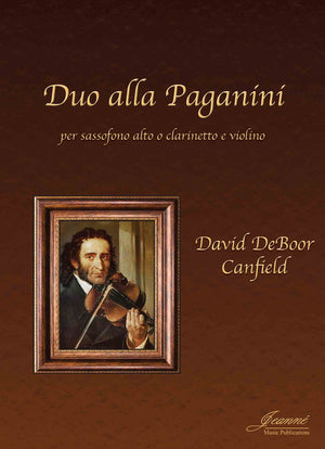 Canfield: Duo alla Paganini for alto saxophone or clarinet and violin