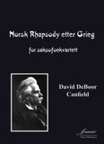 Canfield: Norwegian Rhapsody after Grieg for Saxophone Quartet [SATB]