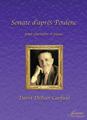 Canfield: Sonata after Poulenc for clarinet and piano