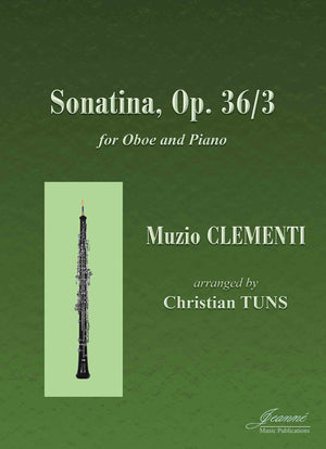 Clementi (Tuns): Sonatina in C Major, op. 36, no. 3 arr. for oboe and piano