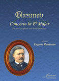 Glazunov (Rousseau): Concerto for Alto Saxophone and String Orchestra (score and parts)