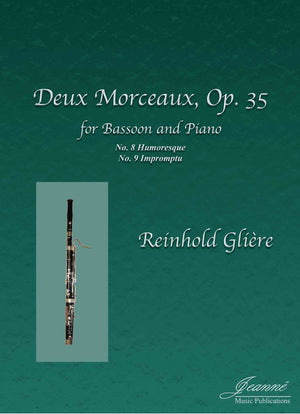 Gliere (Anderson): Deux Morceaux, op. 35 (Impromptu and Humoresque) for bassoon and piano
