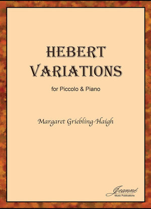 Griebling-Haigh: Hebert Variations for piccolo and piano