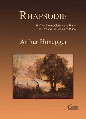 Honegger: Rhapsodie for 2 Flutes, Clarinet and Piano