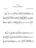 Canfield: Five Lyric Pieces for Alto Saxophone and Piano