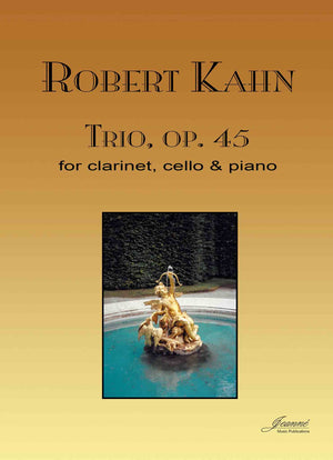 Kahn: Trio, op. 45 for clarinet, cello and piano