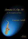 Lunde: Sonata II, op. 38 for Alto Saxophone and Piano