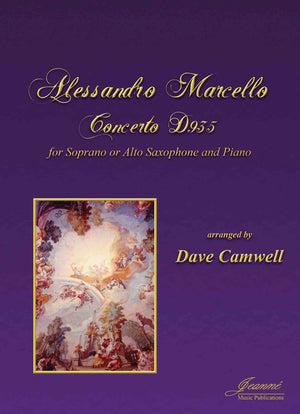 Marcello (Camwell): Concerto for Soprano or Alto Saxophone and Piano