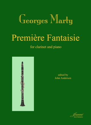 Marty (Anderson): Premiere Fantaisie for clarinet and piano