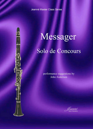 Messager (Anderson): Solo de Concours for clarinet and piano