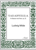 Milde (Anderson): Tarantella, op. 20 for Bassoon and Piano