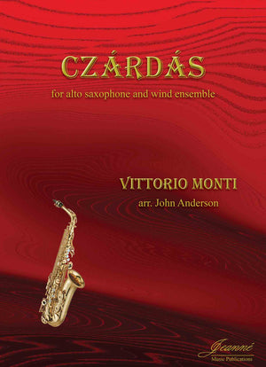 Monti (Anderson): Czardas for Alto Saxophone and Wind Ensemble (score and parts)