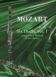 Mozart (Magnani): Six Duets for 2 clarinets - Vol 1