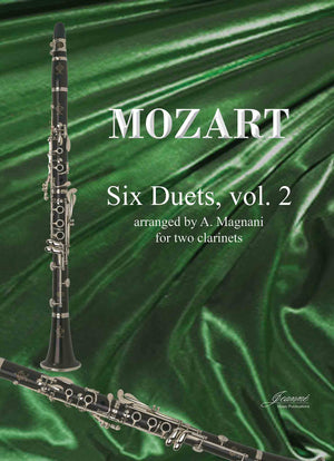Mozart (Magnani): Six Duets for 2 clarinets - Vol 2