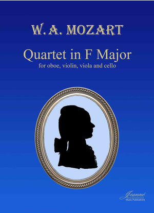 Mozart: Quartet in F, K. 370 for oboe, violin, viola and cello [SCORE]