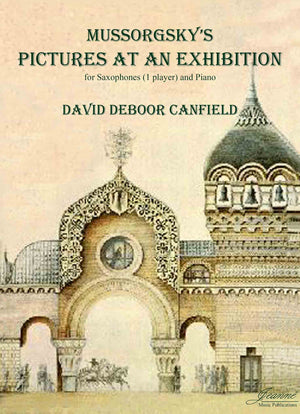 Mussorgsky (Canfield): Pictures at an Exhibition for saxophones (1 player) and piano