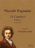Paganini (Tuns): 24 Caprices, vol. 1, arr. for solo oboe