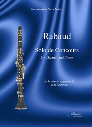 Rabaud (Anderson): Solo de Concours for E-flat Clarinet and Piano