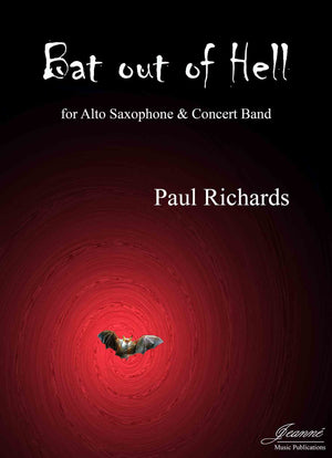 Richards: Bat out of Hell (study score and alto saxophone solo part only)