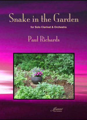 Richards: Snake in the Garden for clarinet and orchestra (score and parts)