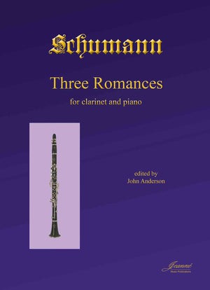 Schumann (Anderson): Three Romances, op. 94 for clarinet and piano