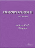 Simpson: Exhortation II for Oboe Solo