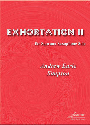 Simpson: Exhortation II for Soprano Saxophone Solo