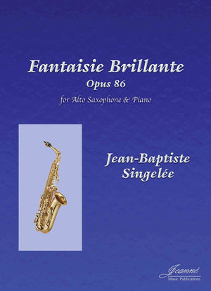 Singelee: Fantaisie Brillante, op. 86 for alto saxophone and piano