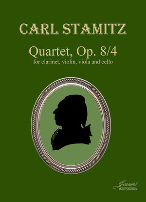 Stamitz: Quartet in E-flat Major, op. 8, no. 4 for clarinet and strings [SCORE]