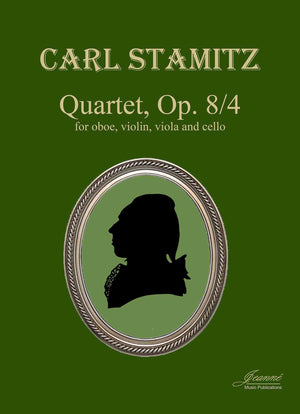 Stamitz: Quartet in E-flat Major, op. 8, no. 4 for oboe and strings [PARTS ONLY]